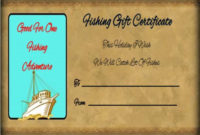 14 Free Printable Fishing Gift Certificate Templates [Best pertaining to Fishing Gift Certificate Editable Templates