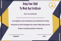 15 +Bring Your Child To Work Day Certificates: Easy To Print with regard to Certificate For Take Your Child To Work Day