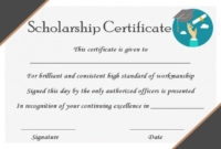 15+ College Scholarship Certificate Templates For Students with Scholarship Certificate Template
