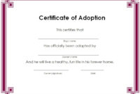 15+ Free Printable Real & Fake Adoption Certificate Templates within Unique Child Adoption Certificate Template Editable