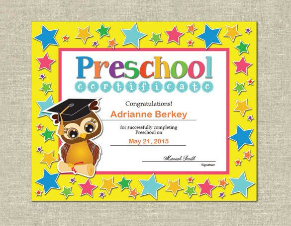 16+ Free Word, Pdf Psd Format Download! | Free & Premium Pertaining To Unique 10 Kindergarten Graduation Certificates To Print Free