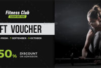 17+ Gym Gift Voucher Templates – Free Photoshop Vector Downloads inside Fresh Free 10 Fitness Gift Certificate Template Ideas