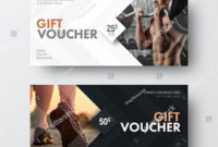 17+ Gym Gift Voucher Templates – Free Photoshop Vector Downloads with Fresh Free 10 Fitness Gift Certificate Template Ideas
