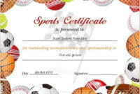 17+ Sports Certificate Templates | Free Printable Word & Pdf inside Fresh Sportsmanship Certificate Template