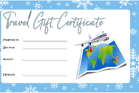17+ Travel Gift Certificate Template Ideas Free with Unique Travel Certificates 10 Template Designs 2019 Free