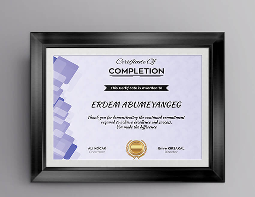 18 Best Free Certificate Templates (Printable Editable For Great Job Certificate Template Free 9 Design Awards