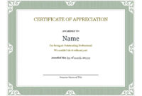 18 Best Free Certificate Templates (Printable Editable in Fresh Editable Certificate Of Appreciation Templates