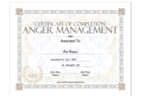 18 Free Certificate Of Completion Templates | Utemplates pertaining to Best Anger Management Certificate Template