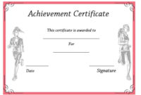 19 Athletic Certificate Templates For Schools & Clubs (Free inside Best Athletic Award Certificate Template