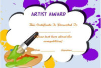 20 Art Certificate Templates (To Reward Immense Talent In for Drawing Competition Certificate Templates