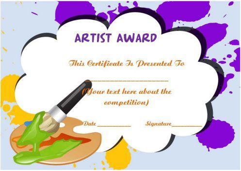 20 Art Certificate Templates (To Reward Immense Talent In in Best Art Award Certificate Template