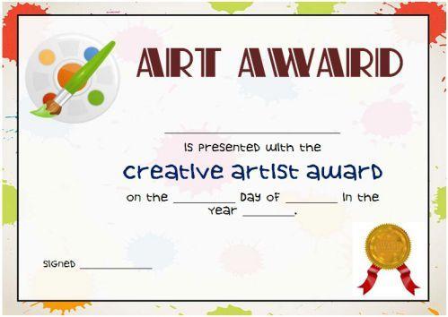 20 Art Certificate Templates (To Reward Immense Talent In Inside Best Free Art Award Certificate Templates Editable