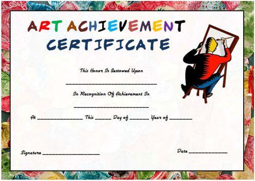 20 Art Certificate Templates (To Reward Immense Talent In Regarding Free Art Award Certificate Templates Editable