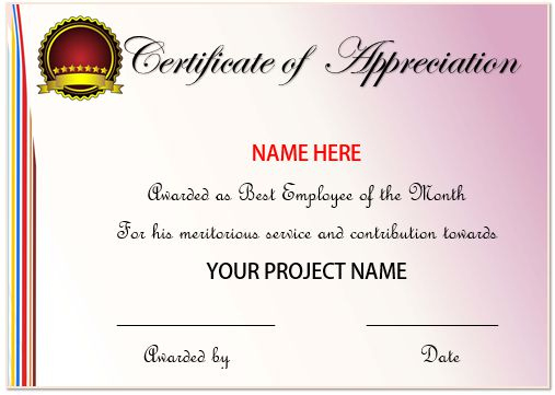 20+ Free Certificates Of Appreciation For Employee Templates For Best Employee Certificate Template
