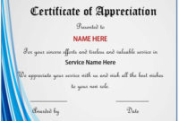 20+ Free Certificates Of Appreciation For Employee Templates in Employee Appreciation Certificate Template