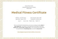 21+ Medical Certificate Templates | Free Word & Pdf within Physical Fitness Certificate Templates