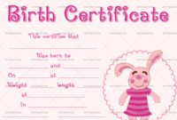 22+ Birth Certificate Templates – Editable & Printable Designs for Unique Pet Birth Certificate Templates Fillable