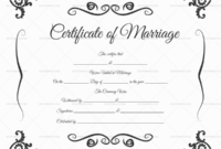 22+ Editable Marriage Certificate Templates (Word And Pdf in Best Marriage Certificate Template Word 10 Designs