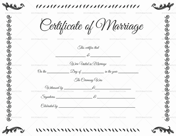 22+ Editable Marriage Certificate Templates (Word And Pdf inside Fresh Marriage Certificate Editable Template
