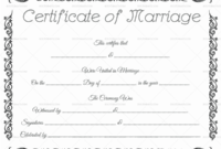22+ Editable Marriage Certificate Templates (Word And Pdf throughout Fresh Marriage Certificate Editable Templates