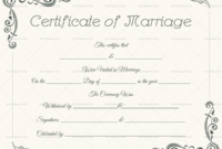22+ Editable Marriage Certificate Templates (Word And Pdf within Marriage Certificate Template Word 10 Designs