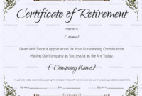 22+ Retirement Certificate Templates – In Word And Pdf | Doc intended for Free Retirement Certificate Templates For Word