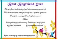 23 Best Boyfriend Certificates That Can Make Your Loved Ones pertaining to Best Certificate For Best Boyfriend 10 Sweetest Ideas