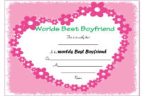 23 Best Boyfriend Certificates That Can Make Your Loved Ones regarding Best Best Boyfriend Certificate Template