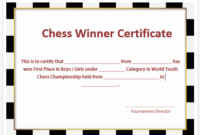 23 Free Printable Chess Certificates You Can Use For Chess regarding Best Chess Tournament Certificate Template Free 8 Ideas