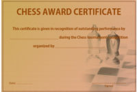 23 Free Printable Chess Certificates You Can Use For Chess with Chess Tournament Certificate Template Free 8 Ideas
