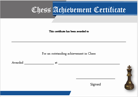 23 Free Printable Chess Certificates You Can Use For Chess with regard to Best Chess Tournament Certificate Template Free 8 Ideas