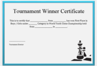 23 Free Printable Chess Certificates You Can Use For Chess with regard to Chess Tournament Certificate Template Free 8 Ideas