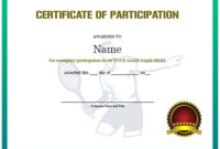 25 Free Tennis Certificate Templates – Download, Customize in Tennis Participation Certificate