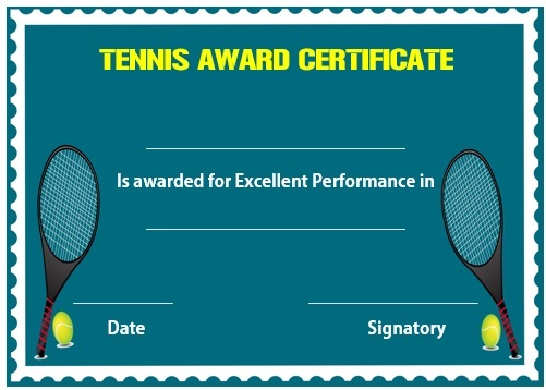 25 Free Tennis Certificate Templates - Download, Customize Intended For Fresh Tennis Achievement Certificate Templates