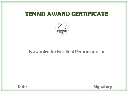 25 Free Tennis Certificate Templates - Download, Customize Regarding Fresh Tennis Achievement Certificate Template