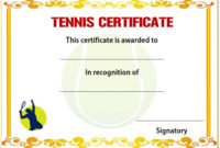 25 Free Tennis Certificate Templates – Download, Customize throughout Editable Tennis Certificates
