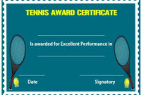 25 Free Tennis Certificate Templates – Download, Customize within Fresh Tennis Achievement Certificate Template