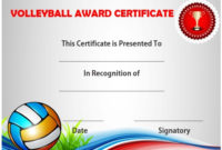 25 Volleyball Certificate Templates – Free Printable for Volleyball Mvp Certificate Templates