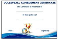 25 Volleyball Certificate Templates – Free Printable pertaining to Best Volleyball Tournament Certificate