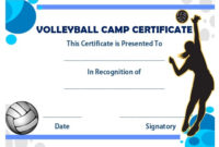 25 Volleyball Certificate Templates – Free Printable throughout Unique Volleyball Mvp Certificate Templates