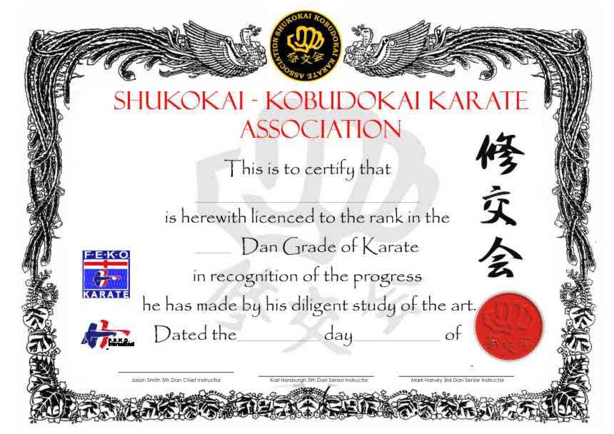 26 Awesome Karate Certificate Template Images   Certificate for Martial Arts Certificate Templates