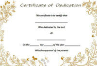 26 Free Fillable Baby Dedication Certificates In Word intended for Best Baby Dedication Certificate Templates