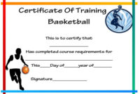 27 Professional Basketball Certificate Templates – Free pertaining to Unique Basketball Tournament Certificate Template