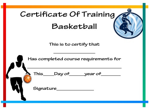 27 Professional Basketball Certificate Templates - Free Pertaining To Unique Basketball Tournament Certificate Template