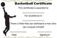 27 Professional Basketball Certificate Templates – Free regarding Unique Basketball Gift Certificate Templates