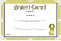 2Nd Student Council Award Certificate Template Free In 2020 regarding Fresh Student Council Certificate Template Free