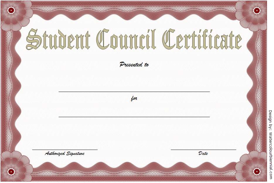 2Nd Student Council Certificate Template Free In 2020 Throughout Fresh Student Council Certificate Template Free