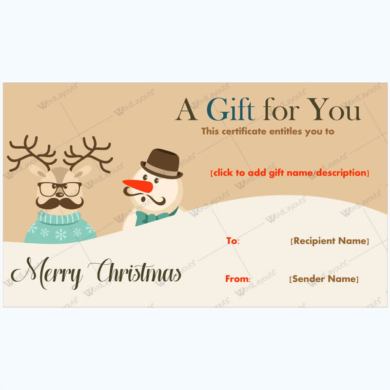 30+ Christmas Gift Certificate Templates - Best Designs (Word) Within Merry Christmas Gift Certificate Templates