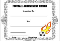 30 Free Printable Football Certificate Templates – Awesome pertaining to Best Youth Football Certificate Templates