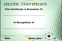 30 Soccer Award Certificate Templates – Free To Download for Soccer Certificate Template Free 21 Ideas
